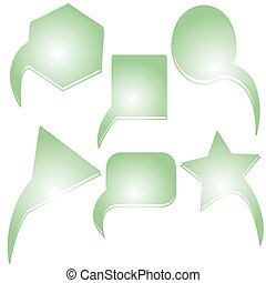 abstract green text bubbles, vector art illustration; more...