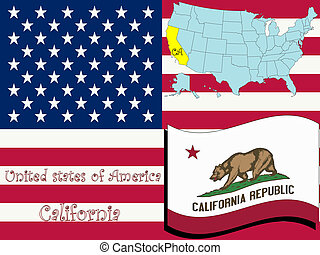 california state illustration, abstract vector art