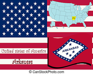 arkansas state illustration, abstract vector art