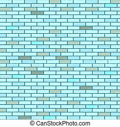 blue seamless bricks wall, abstract texture; vector art...