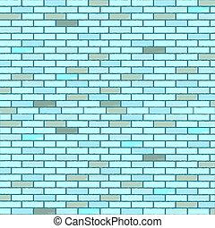 blue seamless bricks wall, abstract texture; vector art...