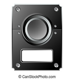 control panel against white background, abstract vector art...