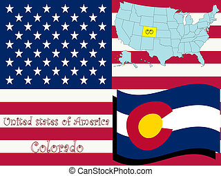 colorado state illustration, abstract vector art