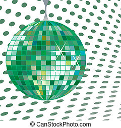 discoball green, vector art illustration