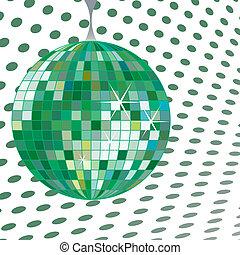 discoball green, vector art illustration