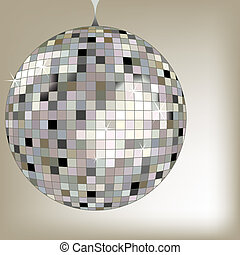 disco ball black, vector art illustration; more disco balls...