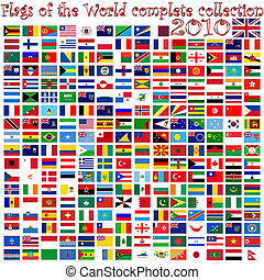 flags of the world against white background, abstract vector...