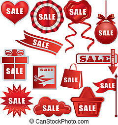 Sale tags set - Illustration vector.