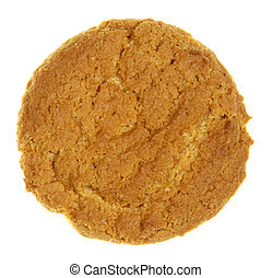 Isolated Gingersnap Cookie - An gingersnap cookie isolated...