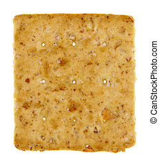Square Isolated Cracker - A square whole wheat cracker...