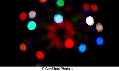 defocused colored circular lights - loopable