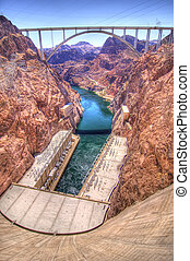Hoover Dam Bypass Bridge - Hoover Dam Bypass bridge crosses...