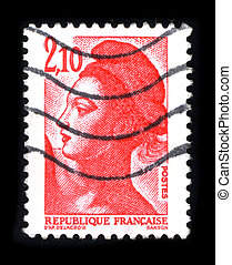 Postage stamp. - FRANCE - CIRCA 1980: A stamp printed in...
