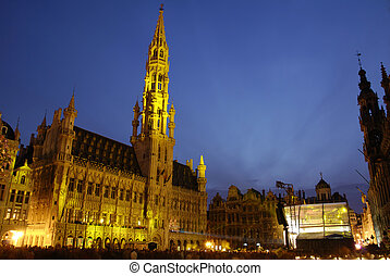 Grand Place in Brussels - Grand Place / Grote Markt at night...