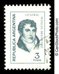 Postage stamp. - ARGENTINA - CIRCA 1980: A stamp printed in...