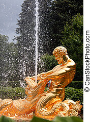 Peterhof - Triton Fountain at Peterhof, Russian Federation