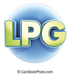 LPG blue sphere - 3d illustration render, LPG blue sphere