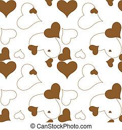 heart brown pattern