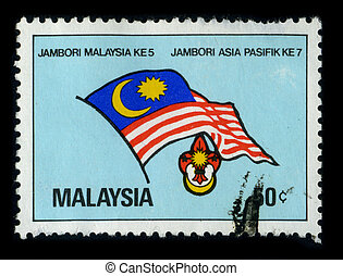 Postage stamp - MALAYSIA - CIRCA 1980: A stamp printed in...