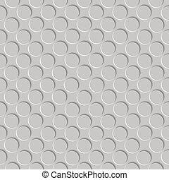 metallic shadowed circle pattern