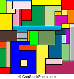 mondrian texture, vector art illustration; more textures in...