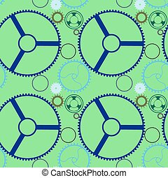 mechanic wheels seamless pattern extended
