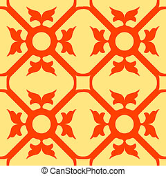 orange flowers seamless texture, abstract pattern; vector...