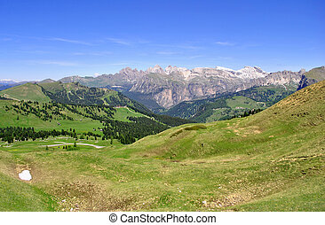 Dolomites Unesco - Summer portrait of Italian Dolomites in...