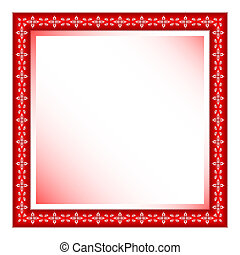 red frame with floral ornament