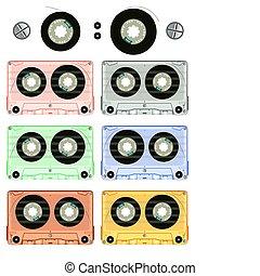 retro audio cassette set