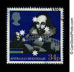 Postage stamp. - AUSTRALIA - CIRCA 1980: A stamp printed in...