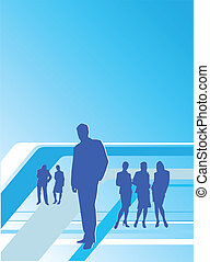 Business People - Illustration of team work. Busines people:...
