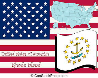 rhode island state illustration, abstract vector art