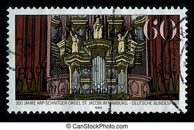 Postage stamp. - GERMANY-CIRCA 1989: A stamp dedicated to...