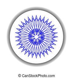 snow flake medallion 8