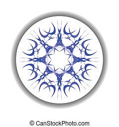 snow flake medallion