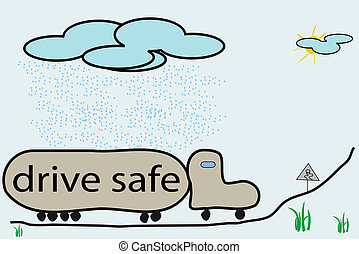 drive safe illustration