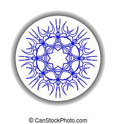 snow flake medallion 2