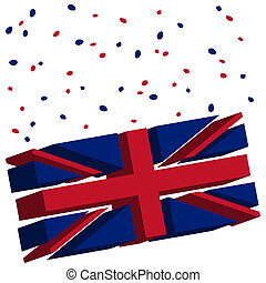 union jack concept, abstract vector art illustration