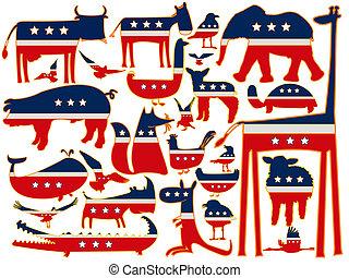 united states stylized animals