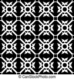symmetrical flower pattern, abstract seamless texture;...