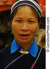 Dao Mang ethnic female portrait - Male Dao Mang. She has...