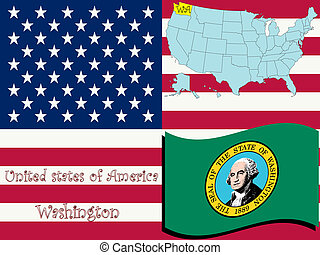 washington state illustration, abstract vector art