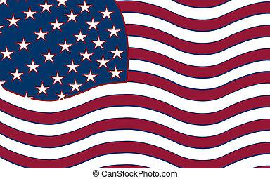 united states stylized flag