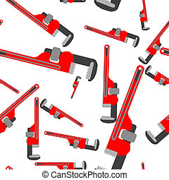 wrench pipe seamless pattern, abstract art illustration