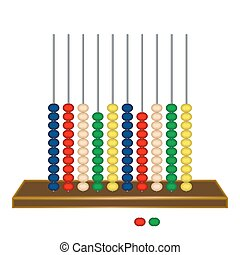 vertical abacus against white background, abstract vector...