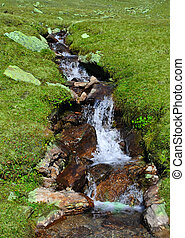stream in the mountain