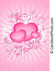 bright background with hearts