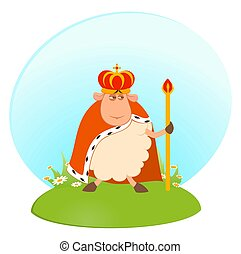 king of sheep in a crown