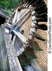 watermill in an old castle in Berlin Germanys capital